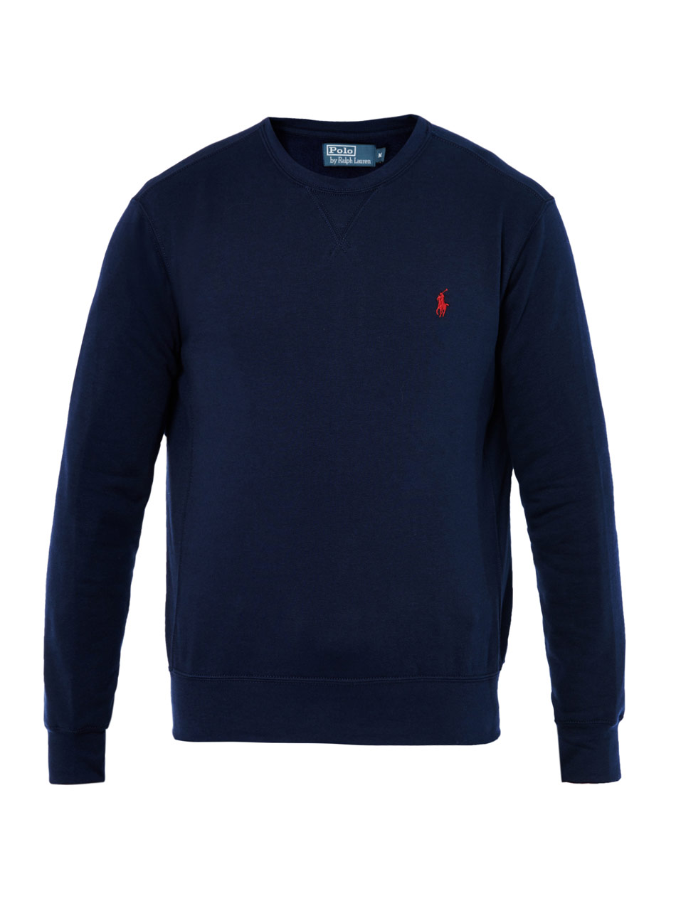 Lyst  Polo Ralph Lauren Crewneck Sweatshirt in Blue for Men