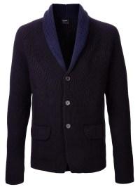 Lyst - Jil Sander Shawl Collar Sweater Jacket in Blue for Men