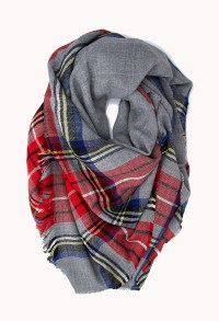 Lyst - Forever 21 Classic Plaid Square Scarf in Gray
