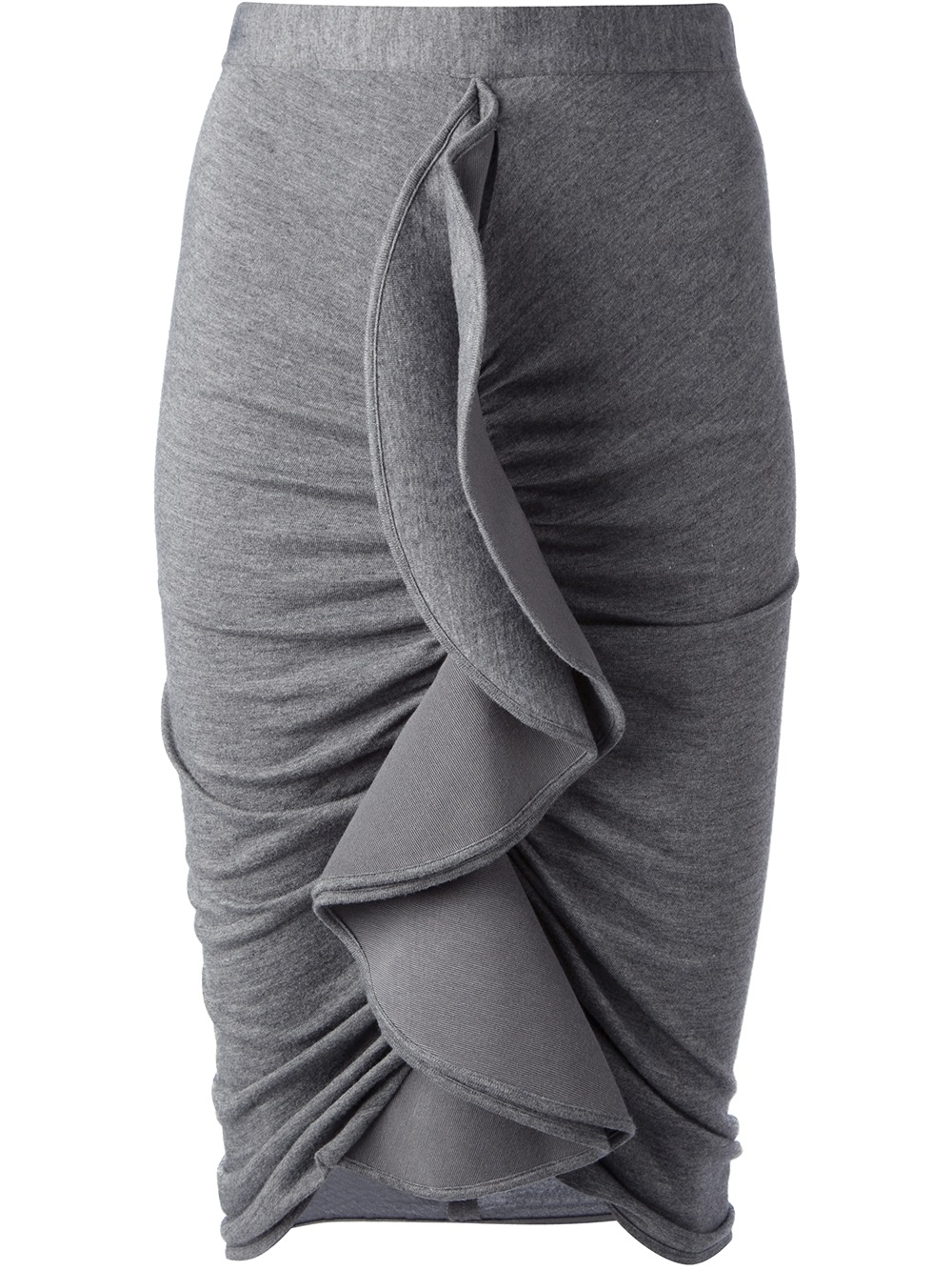 Lyst  Givenchy Ruffled Skirt in Gray