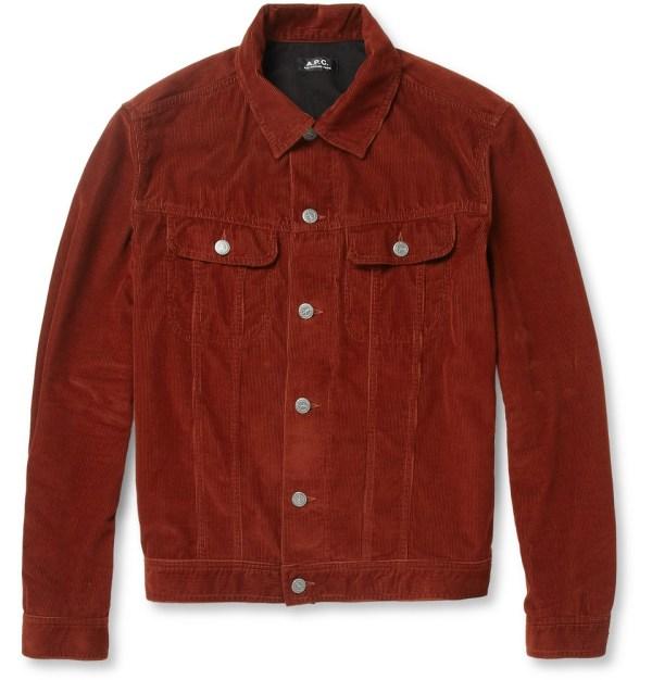 Lyst - . Slimfit Corduroy Jacket In Red Men
