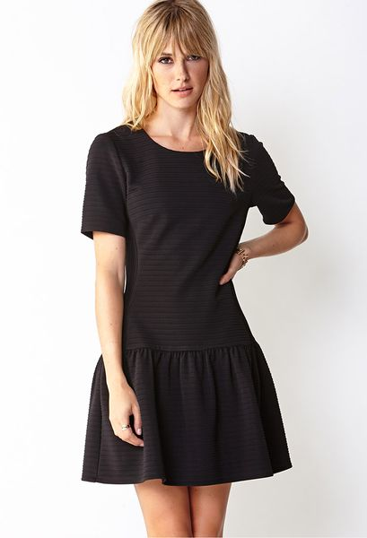 Forever 21 Flirty Drop Waist Dress in Black
