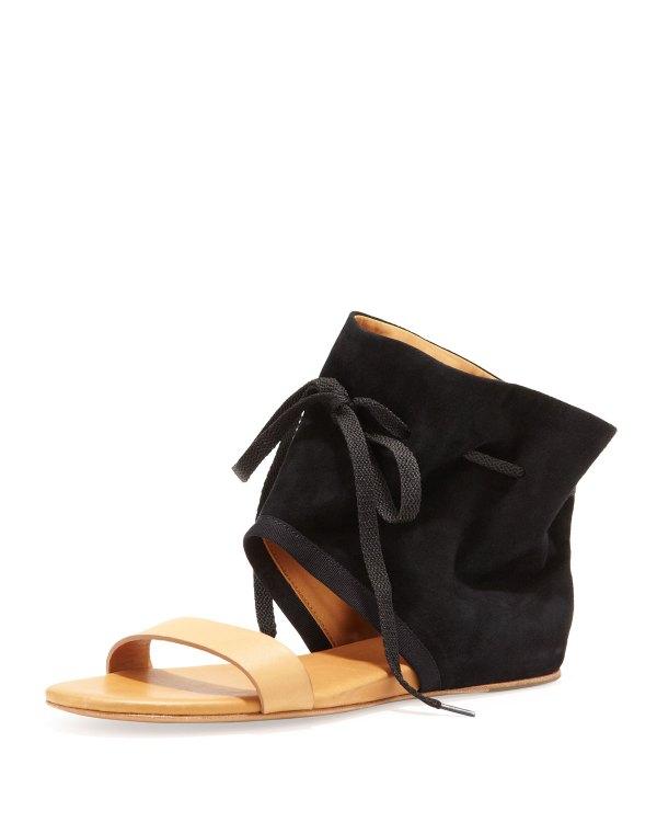 Lyst - Chlo Ankle Cuff Flat Sandal In Black