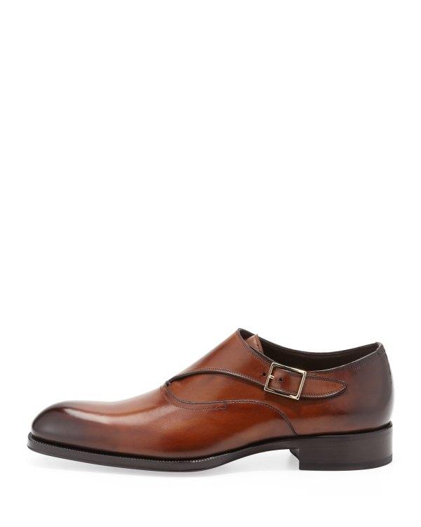 Lyst - Tom Ford Edward Singlemonk Shoe In Brown Men