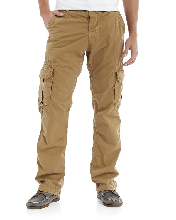 Superdry Softtwill Cargo Pants Dulled Khaki In