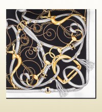 Gucci Equestrian Print Silk Twill Scarf in Black for Men ...