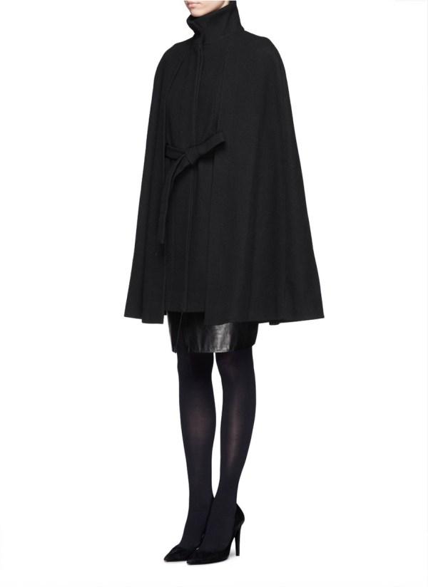Lyst - Maje Wool-blend Cape Coat In Black