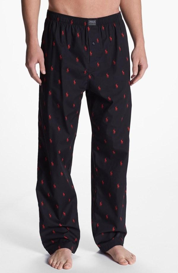 Lyst - Polo Ralph Lauren Cotton Lounge Pants In Black Men