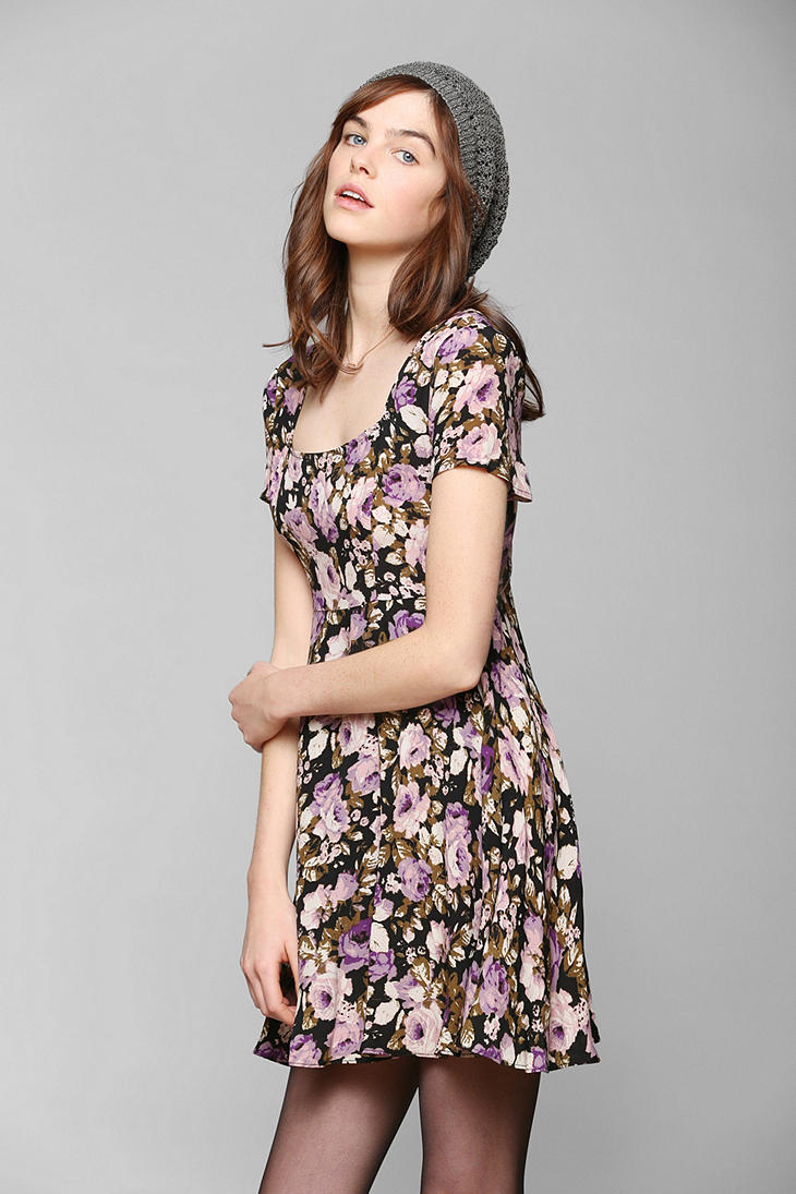 Kimchi Blue Cross Back Floral Dress