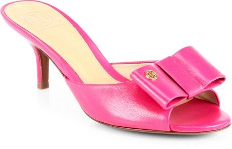 Tory Burch Audrina Leather Bow Slide