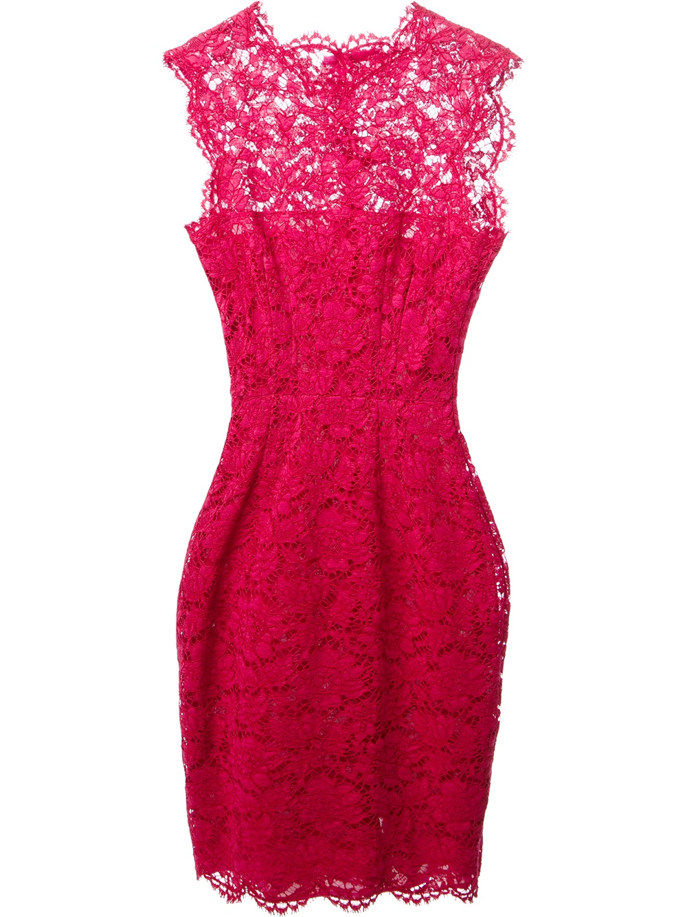 Valentino Lace Dress in Pink  Lyst