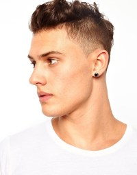 Mens Earrings Black Studs Mens Earrings In Every Style Cz