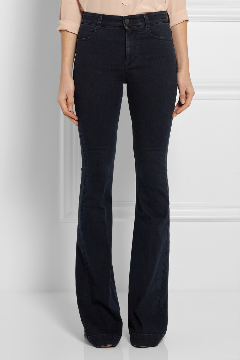 Lyst Stella Mccartney Amanda Highwaisted Flared Jeans In