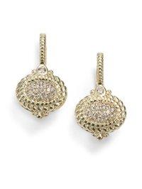 Lyst - Judith Ripka Pave Diamond 14k Yellow Gold Drop ...