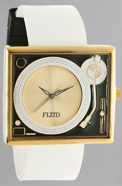 Flud Watches The Turntable Watch In Gold For Men Lyst