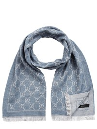 Gucci Scarf in Blue for Men   Lyst