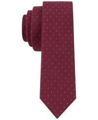 Lyst - Calvin klein Liquid Luxe Pindot Skinny Tie in ...
