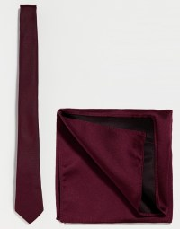 Lyst - Asos Burgundy Tie And Pocket Square Pack in Purple ...