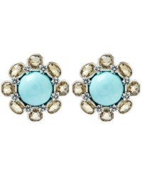 Stephen Dweck Silver Turquoise And Citrine Earrings in