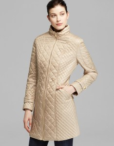 Gallery also lyst via spiga coat mid length camel quilted in metallic rh