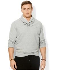 Polo Ralph Lauren Fleece Shawl Collar Pullover - Sweater ...