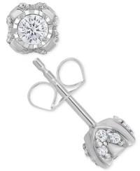a7cbae476 √ Macys Diamond Stud Earrings | Macy's Near Colorless Certified ...