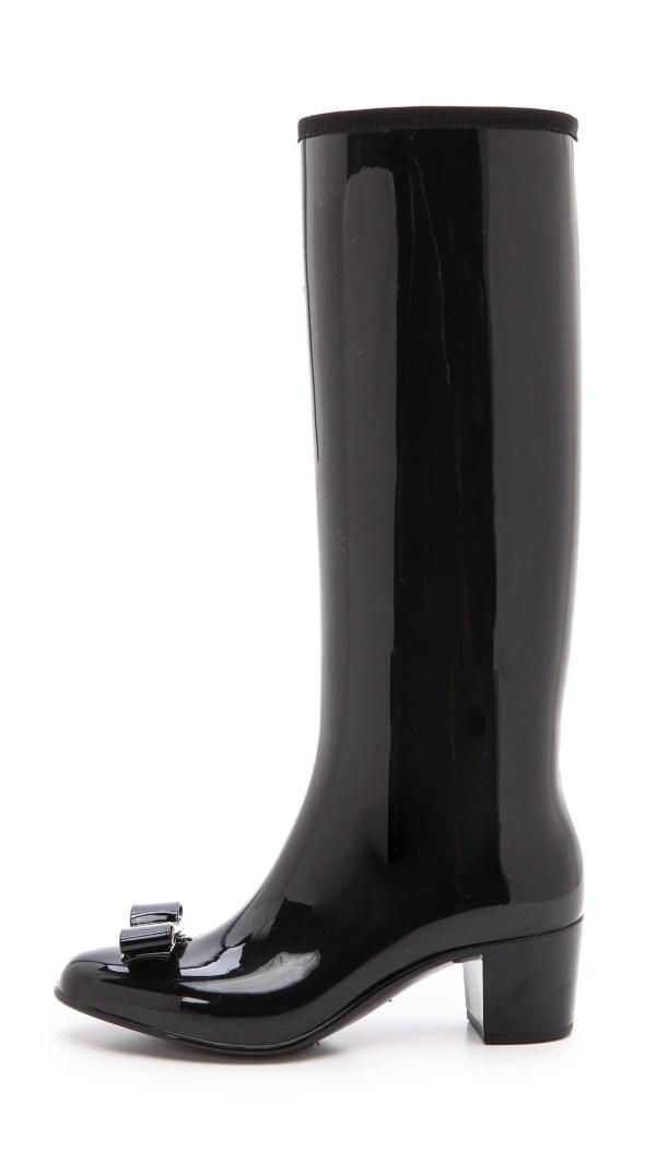 Lyst - Ferragamo Niper Rain Boots Nero In Black
