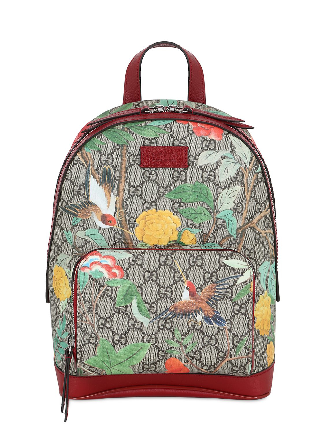 Lyst  Gucci Tian GG Supreme Leather Backpack for Men