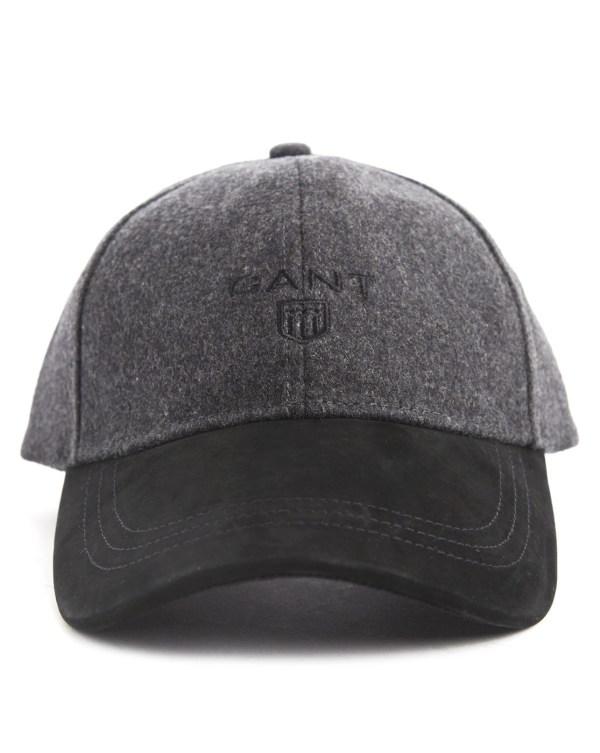 ac937855 Gant Alcantara Grey Wool Baseball Cap In Gray Men Lyst