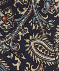 Lyst - Drake'S Navy Paisley Print Silk Tie in Blue for Men