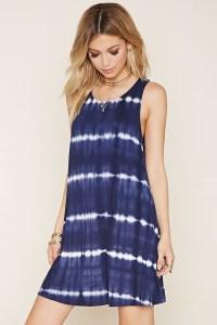 Lyst - Forever 21 Tie-dye Mini Dress in Blue