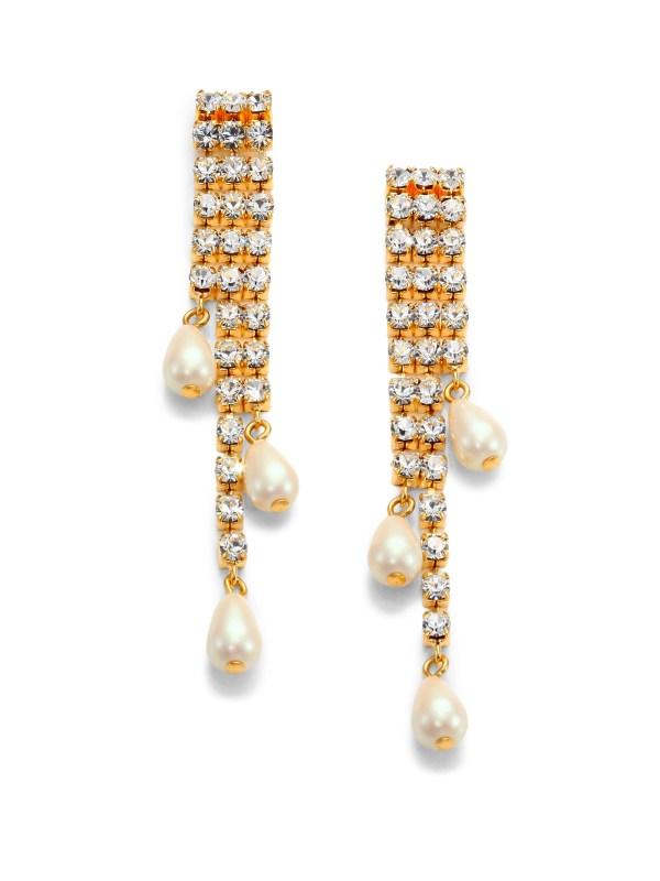 Kate Spade Seaview Pav Fringe Drop Earrings In Gold Lyst