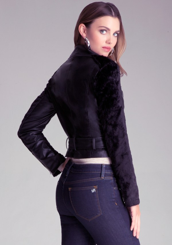 Lyst - Bebe Leslie Faux Leather Jacket In Black