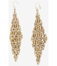 Express Diamond Shaped Textured Mesh Drop Earrings in