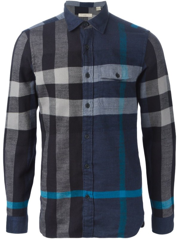 9f6a36a28f16 Burberry Brit Checked Shirt In Blue Men Lyst - Year of Clean Water
