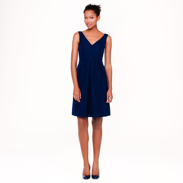 Crew Kami Dress In Classic Faille Blue Haven