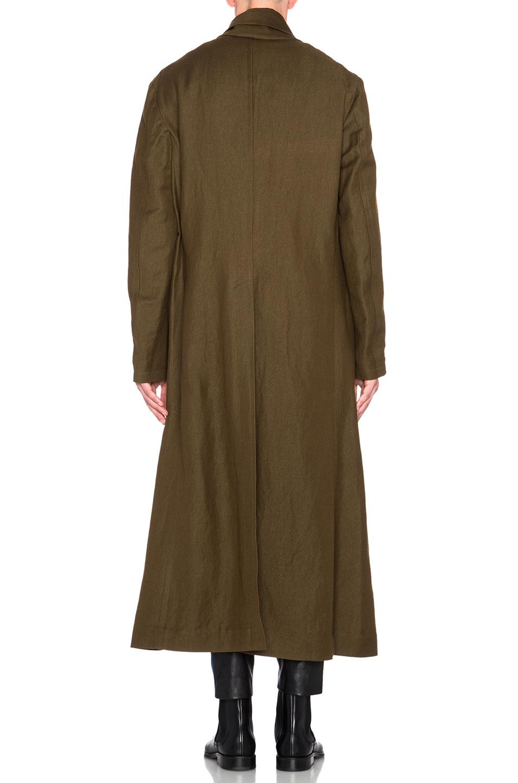 Haider ackermann Oversized Shawl Collar Coat in Green for