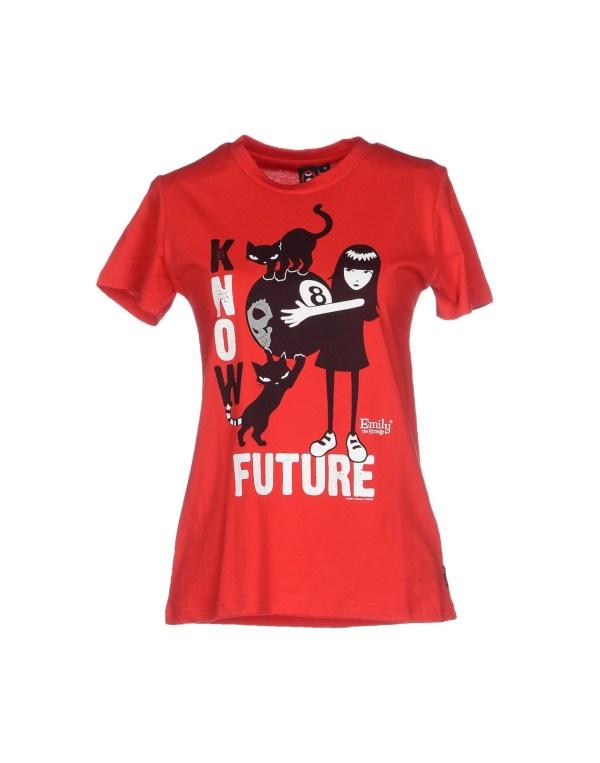 Emily Strange T-shirt In Red Lyst