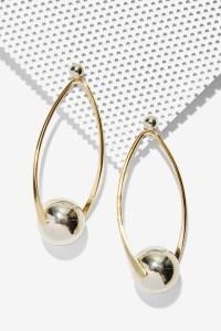 Lyst - Nasty gal Illusion Metallic Earrings in Metallic