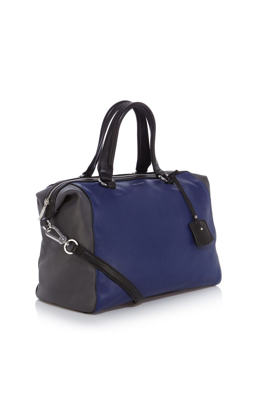 Karen Millen Colourblock Box Bag In Blue Lyst