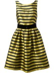 Black and Yellow Striped Dress
