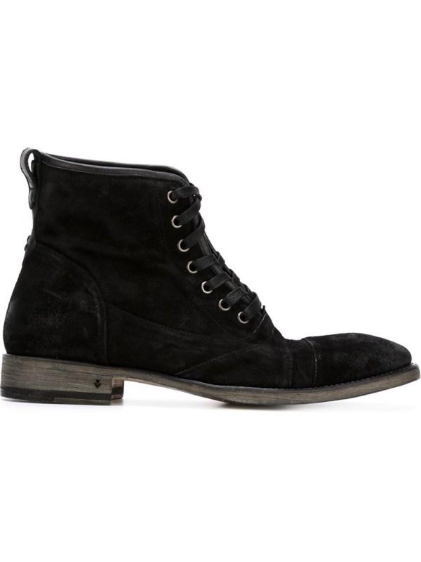 Lyst - John Varvatos Utility Boots In Black Men
