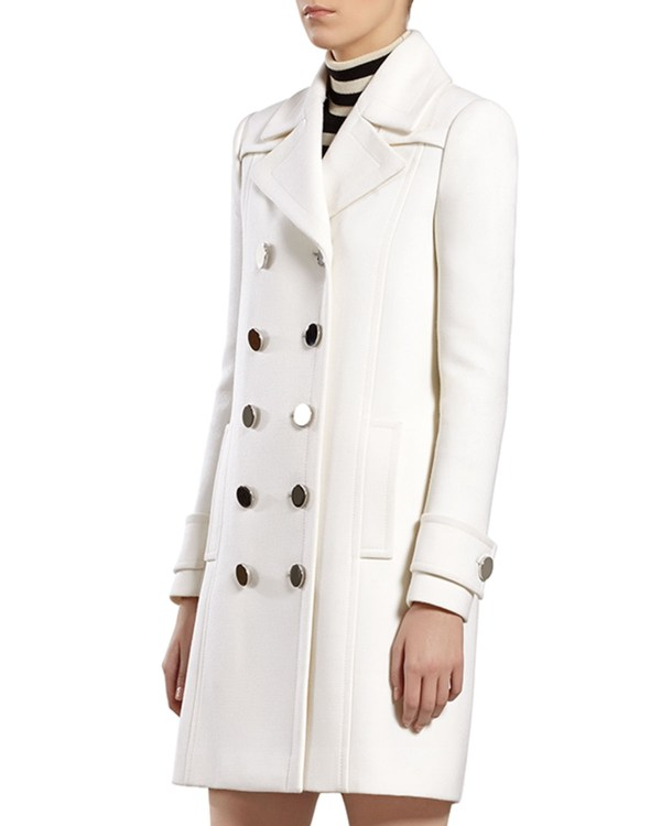 Lyst - Gucci White Wool Coat