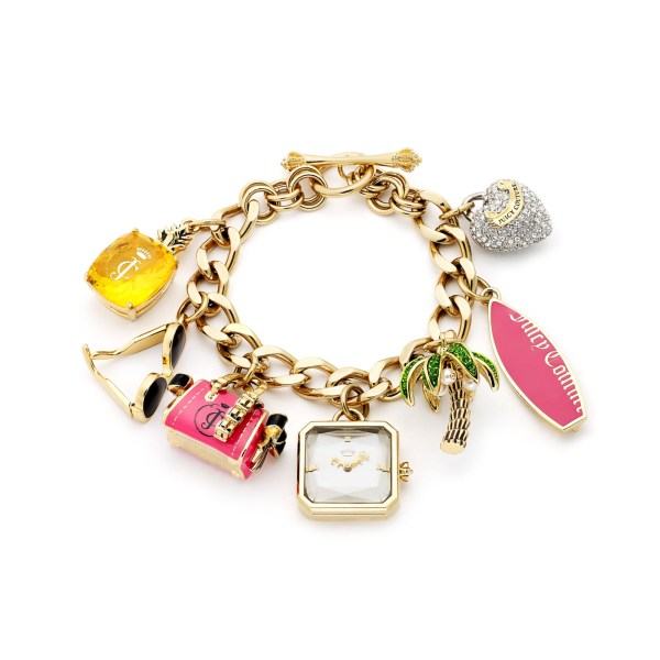 Juicy Couture Womens Glam Charm Gold Ionplated Stainless