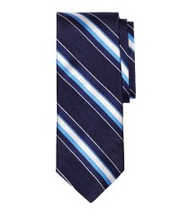 Brooks brothers Natte Wide Stripe Tie in Blue for Men ...