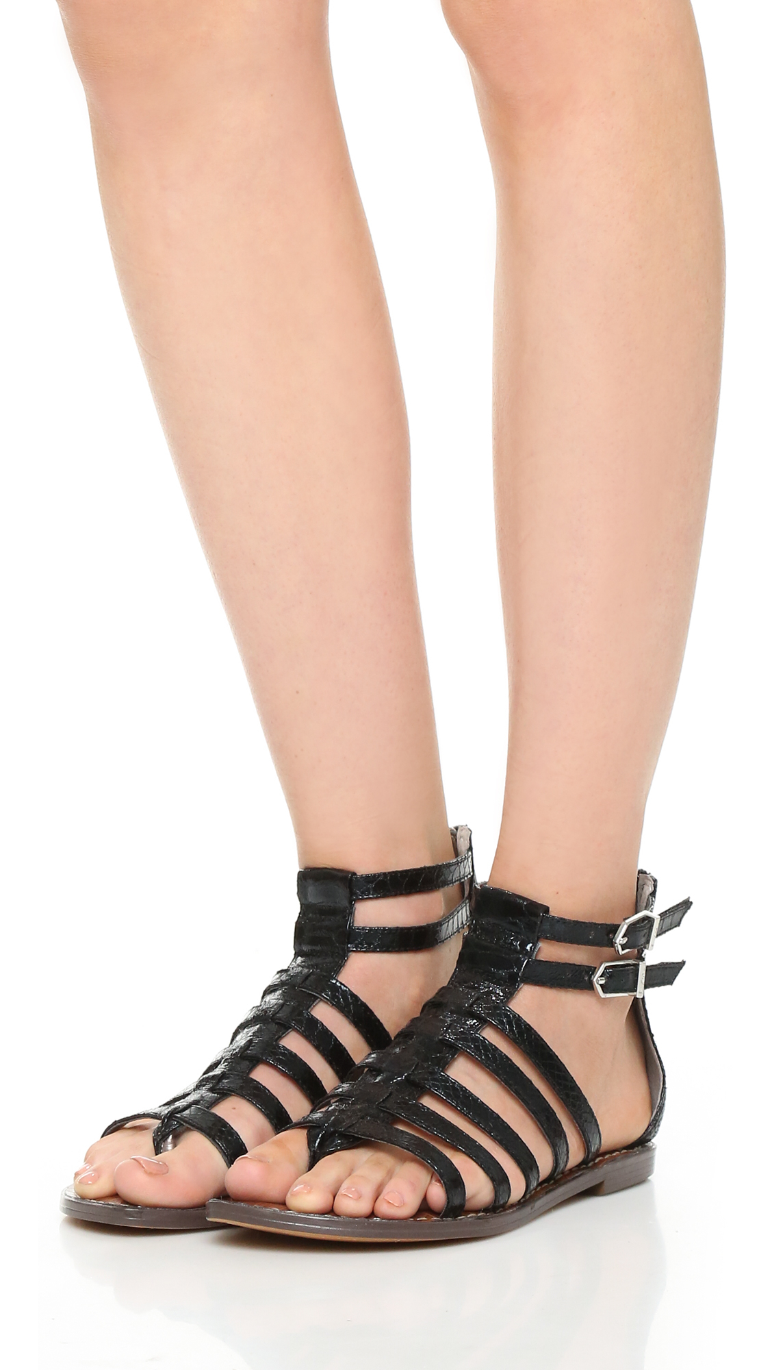Lyst - Sam Edelman Kendra Flat Sandals in Black