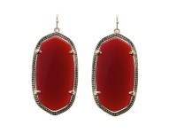 Kendra scott Danielle Earrings in Red (Dark Red Onyx)