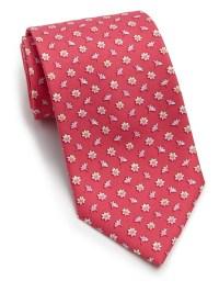 Lyst - Ferragamo Floral Silk Tie in Pink for Men