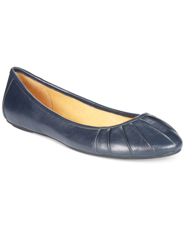 Lyst - Nine West Blustery Pleated Flats In Blue