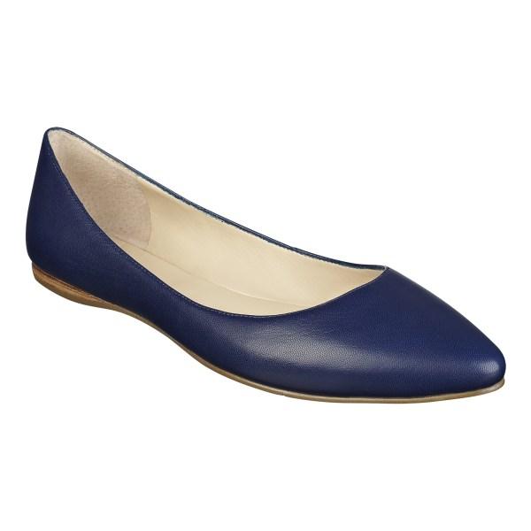 Blue Sandals Nine West Navy Flats